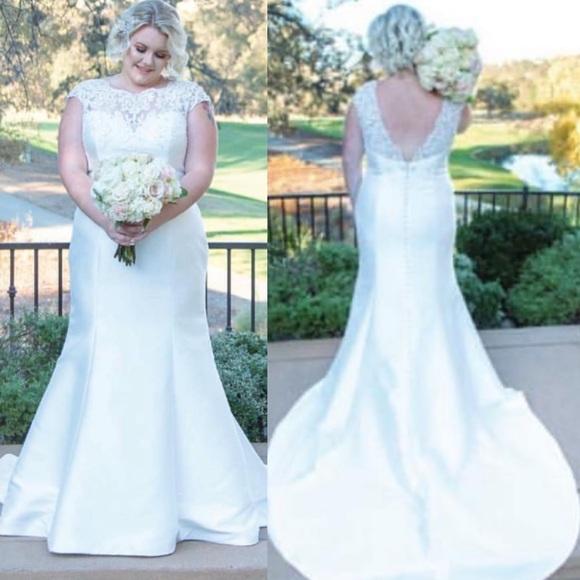 1ab7f6b9 sparkle bridal Dresses | Plus Size Trumpet Wedding Dress 28 Price ...